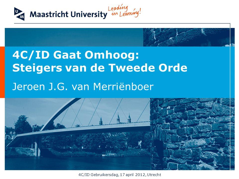 4C/ID Gebruikersdag, 17 april 2012, Utrecht