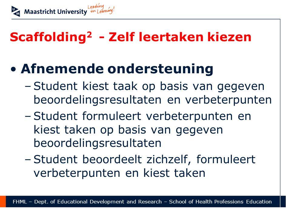 Scaffolding2 - Zelf leertaken kiezen