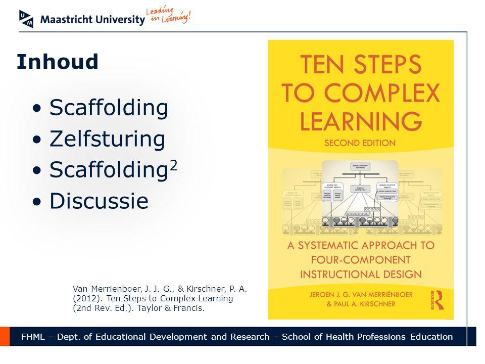 Scaffolding Zelfsturing Scaffolding2 Discussie Inhoud
