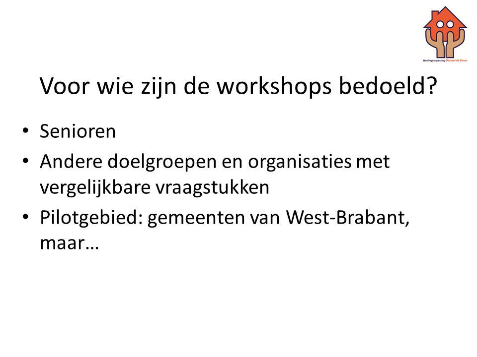 Voor wie zijn de workshops bedoeld