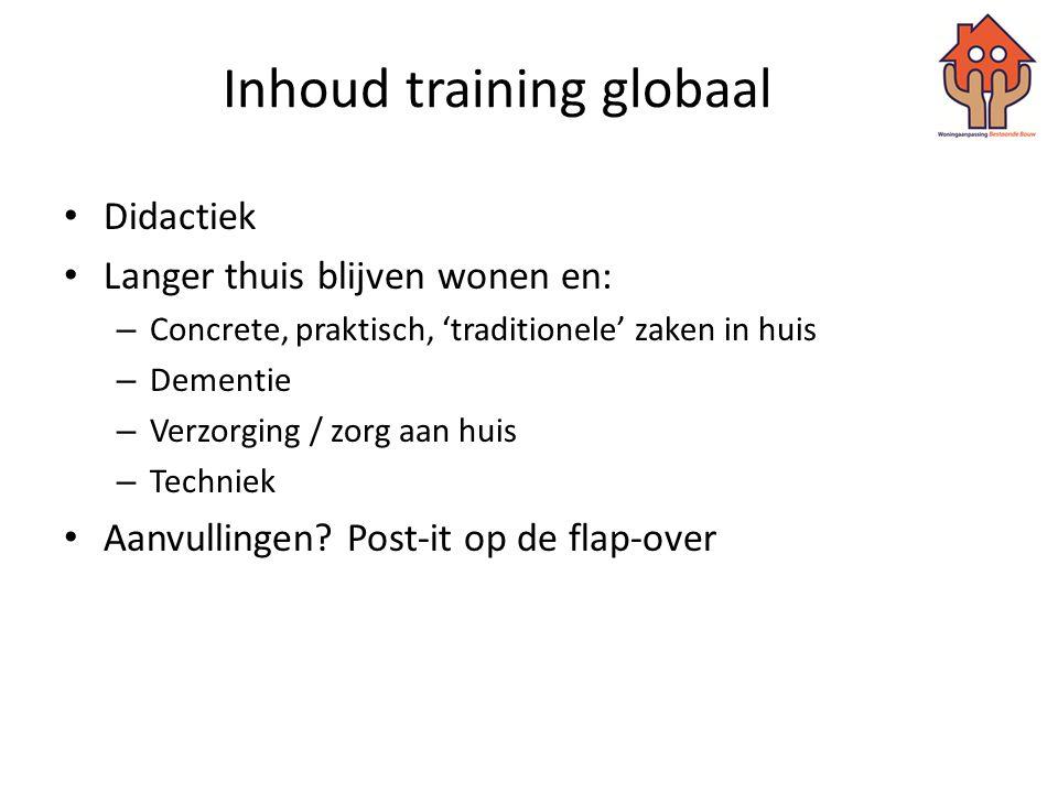 Inhoud training globaal