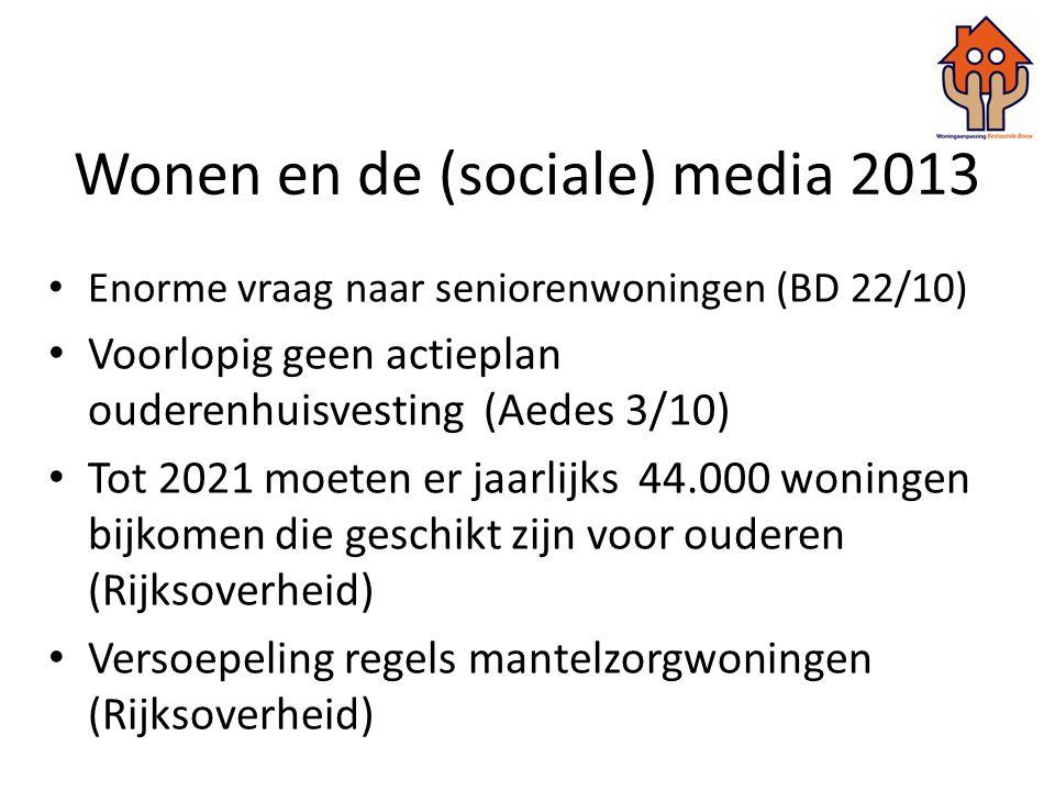 Wonen en de (sociale) media 2013