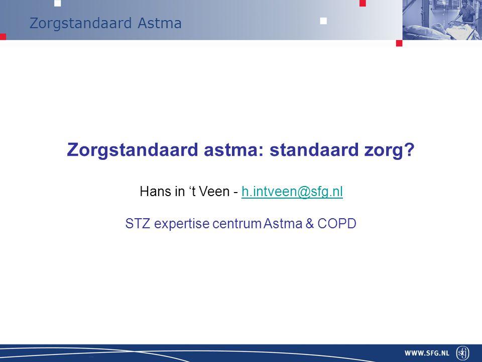 Zorgstandaard astma: standaard zorg