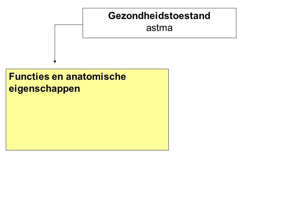 Gezondheidstoestand astma Functies en anatomische eigenschappen
