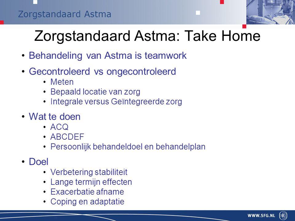 Zorgstandaard Astma: Take Home