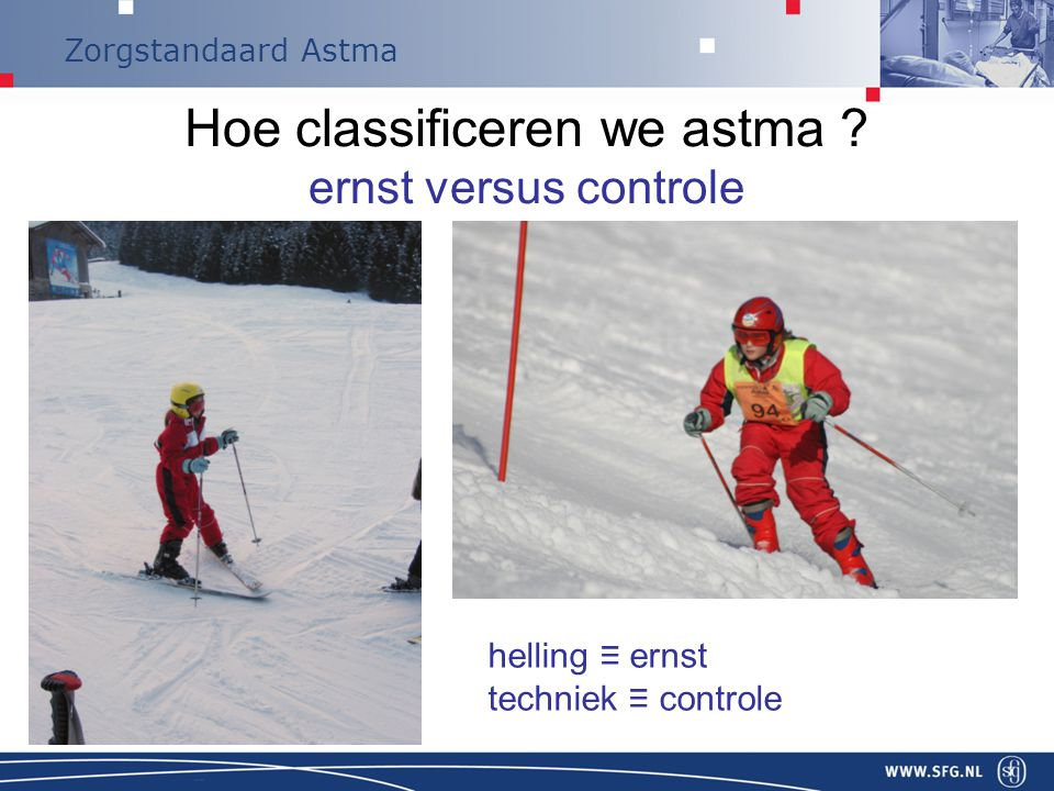 Hoe classificeren we astma ernst versus controle