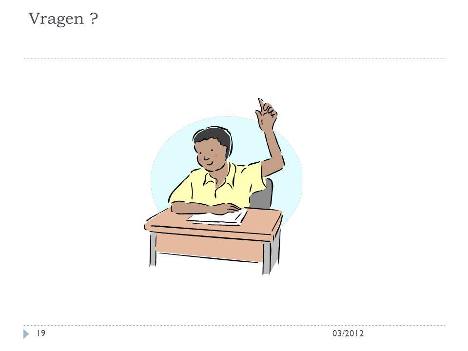 Vragen 03/2012
