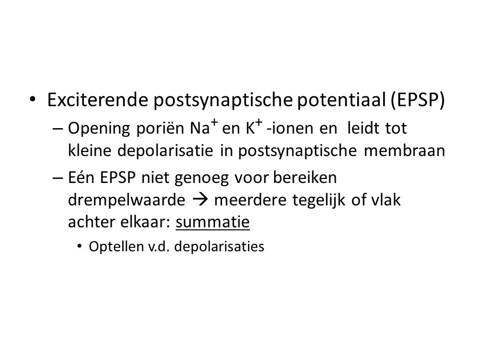 Exciterende postsynaptische potentiaal (EPSP)