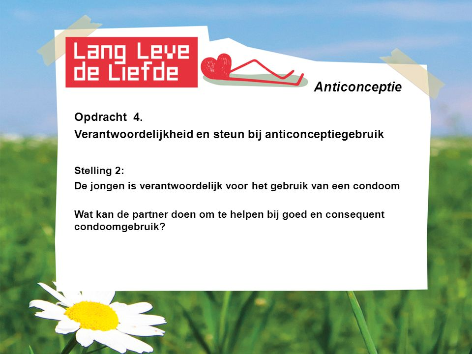 Anticonceptie Opdracht 4.