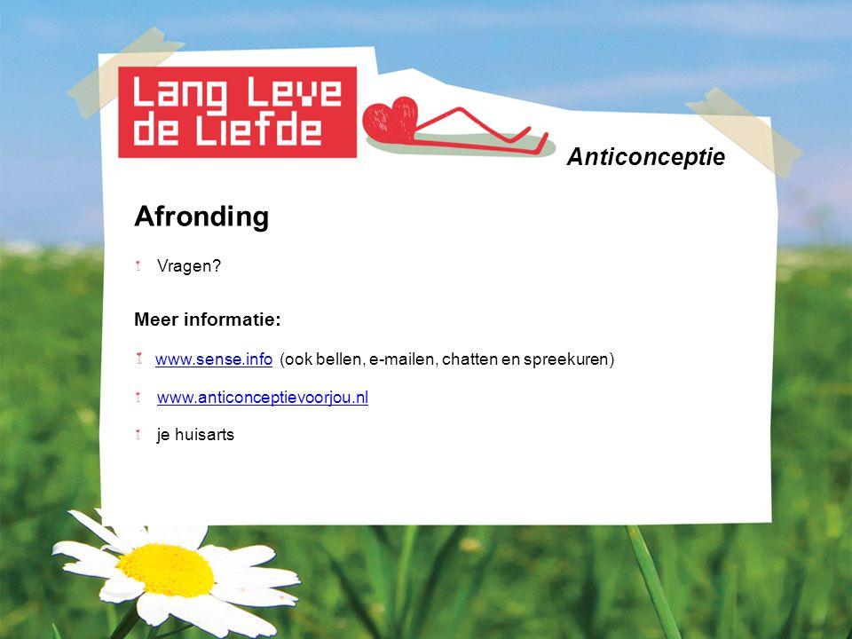 Afronding Anticonceptie Meer informatie: