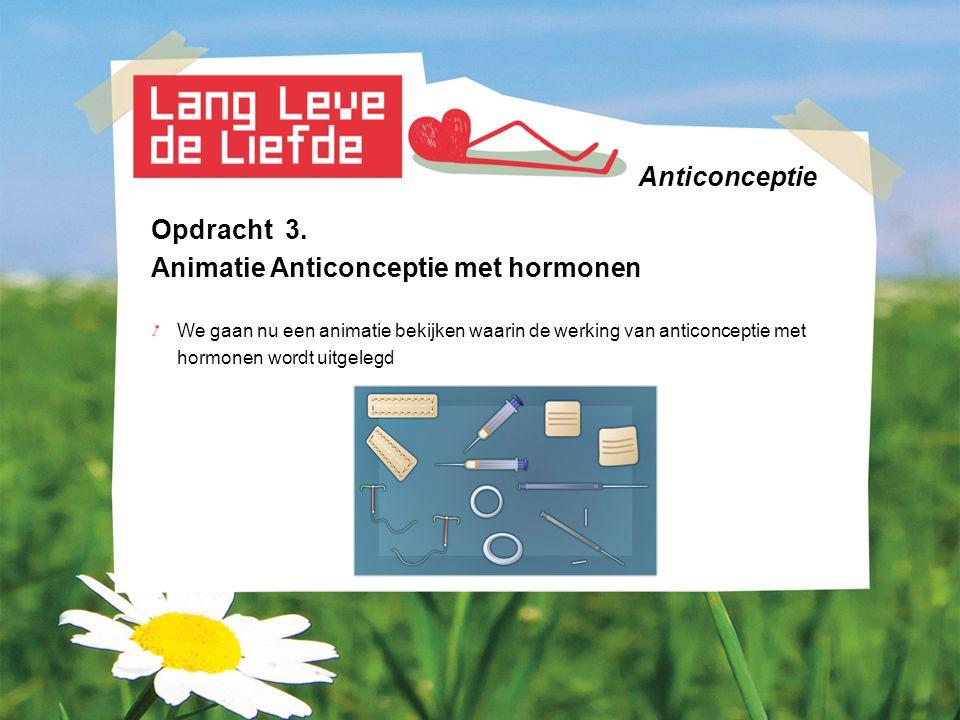 Animatie Anticonceptie met hormonen