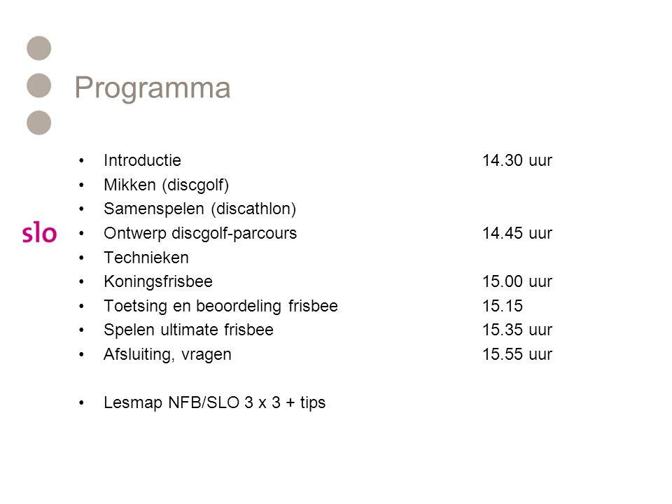 Programma Introductie 14.30 uur Mikken (discgolf)