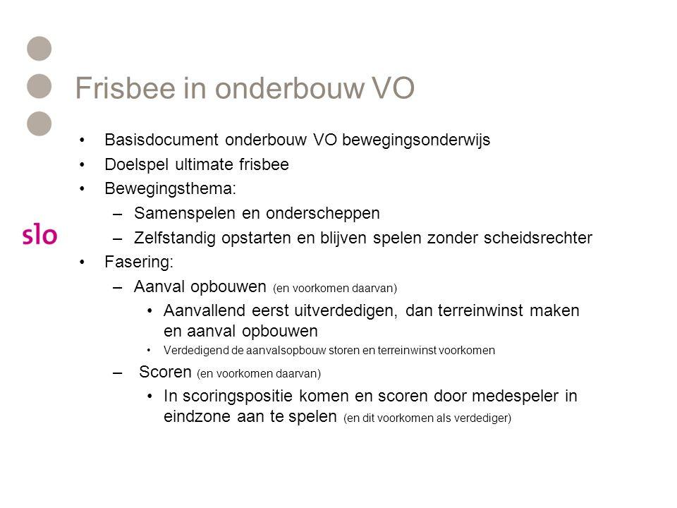 Frisbee in onderbouw VO