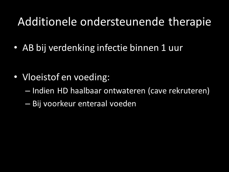 Additionele ondersteunende therapie