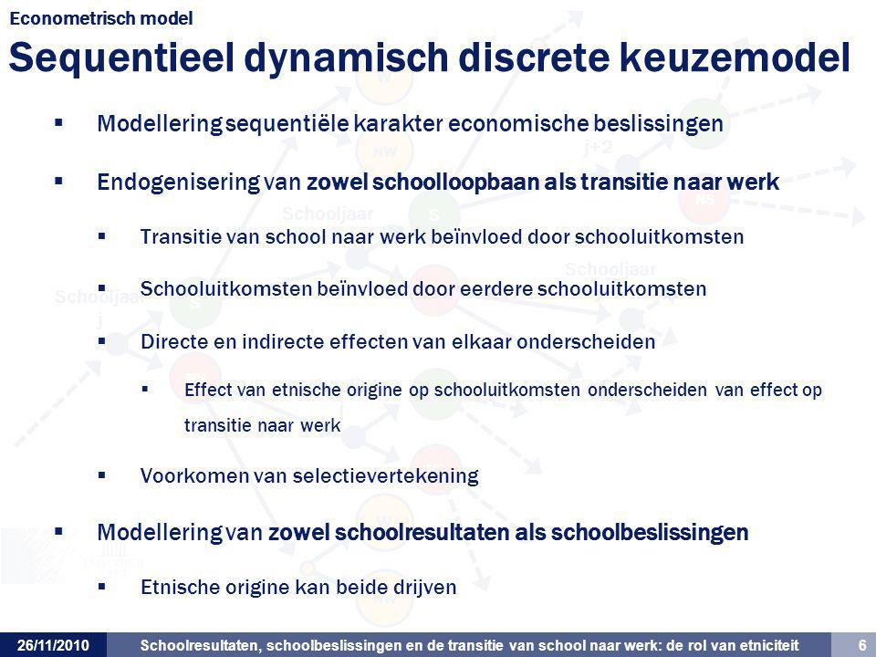 Econometrisch model Sequentieel dynamisch discrete keuzemodel