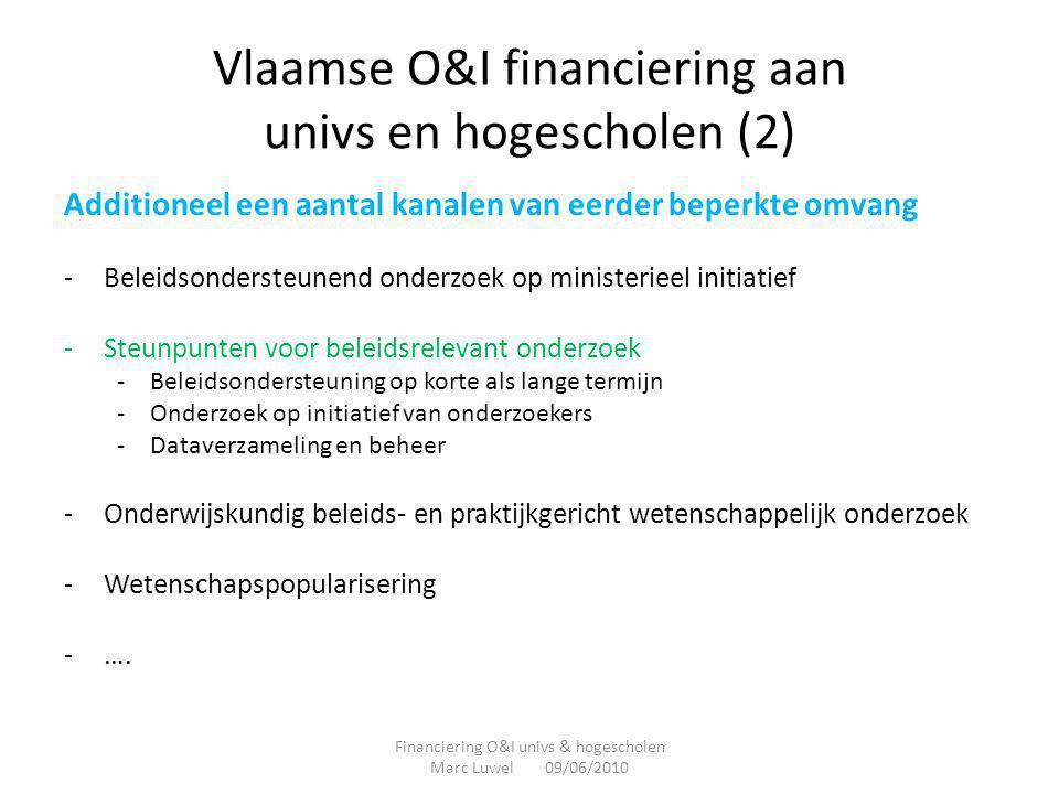 Vlaamse O&I financiering aan univs en hogescholen (2)