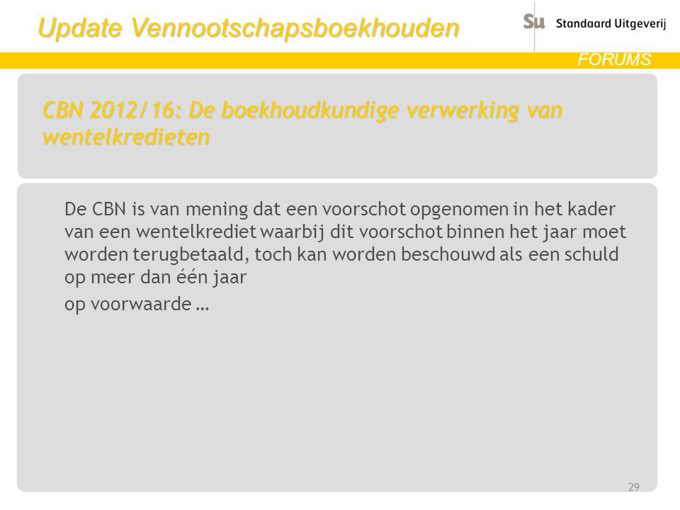 CBN 2012/16: De boekhoudkundige verwerking van wentelkredieten