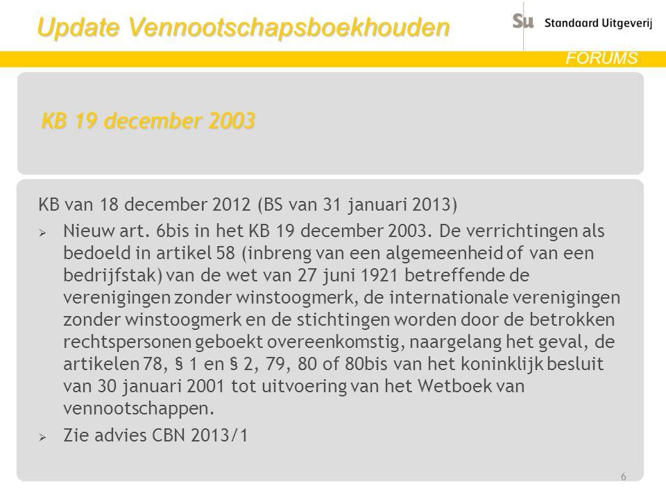 KB 19 december 2003 KB van 18 december 2012 (BS van 31 januari 2013)