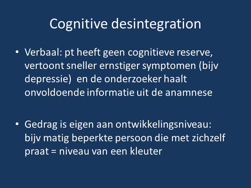Cognitive desintegration
