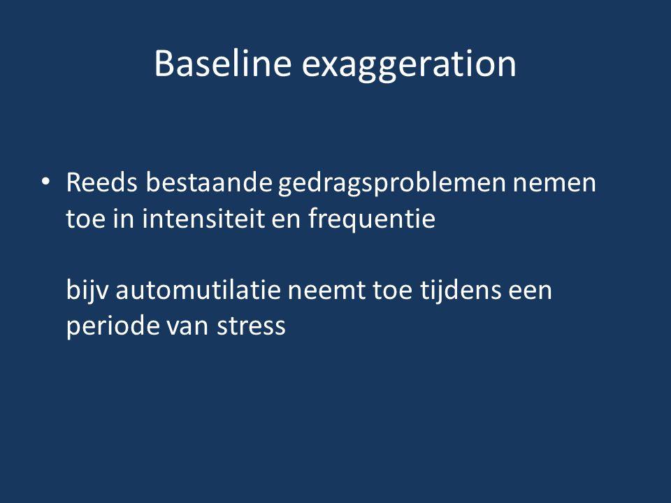 Baseline exaggeration