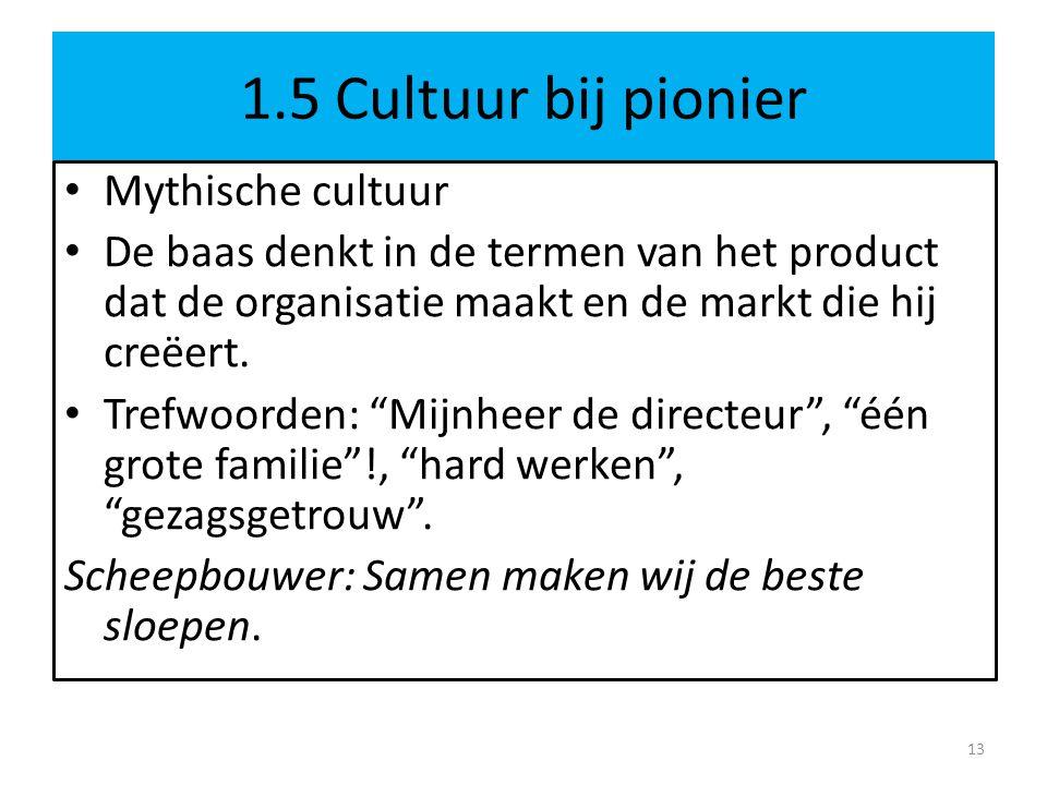 1.5 Cultuur bij pionier Mythische cultuur