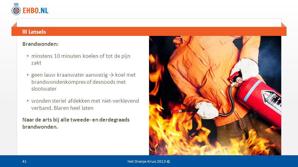 III Letsels Brandwonden: