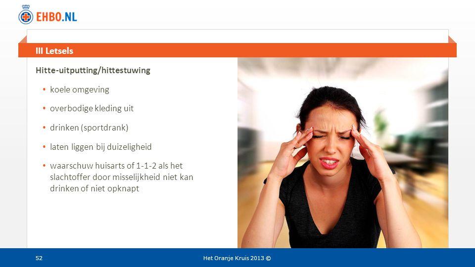 III Letsels Hitte-uitputting/hittestuwing koele omgeving