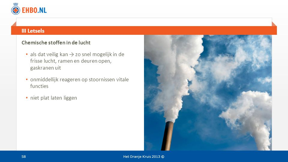III Letsels Chemische stoffen in de lucht