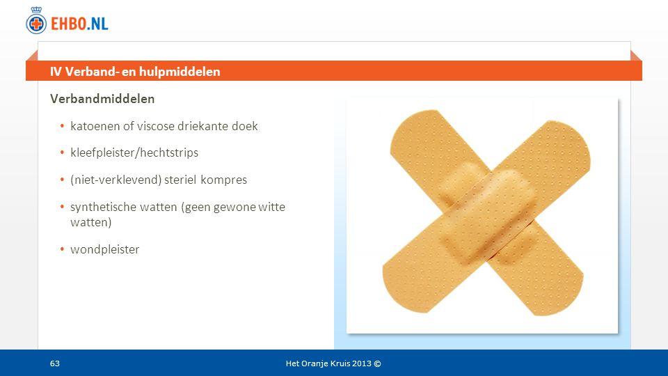 IV Verband- en hulpmiddelen