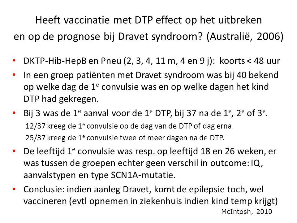 Heeft vaccinatie met DTP effect op het uitbreken en op de prognose bij Dravet syndroom (Australië, 2006)