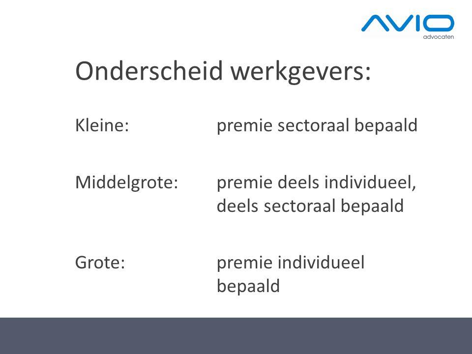 Onderscheid werkgevers: