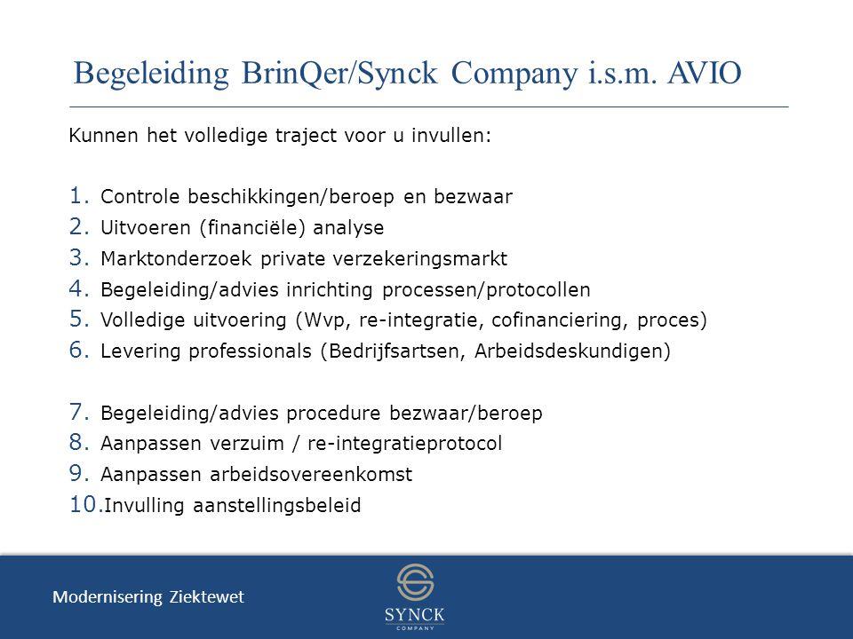 Begeleiding BrinQer/Synck Company i.s.m. AVIO