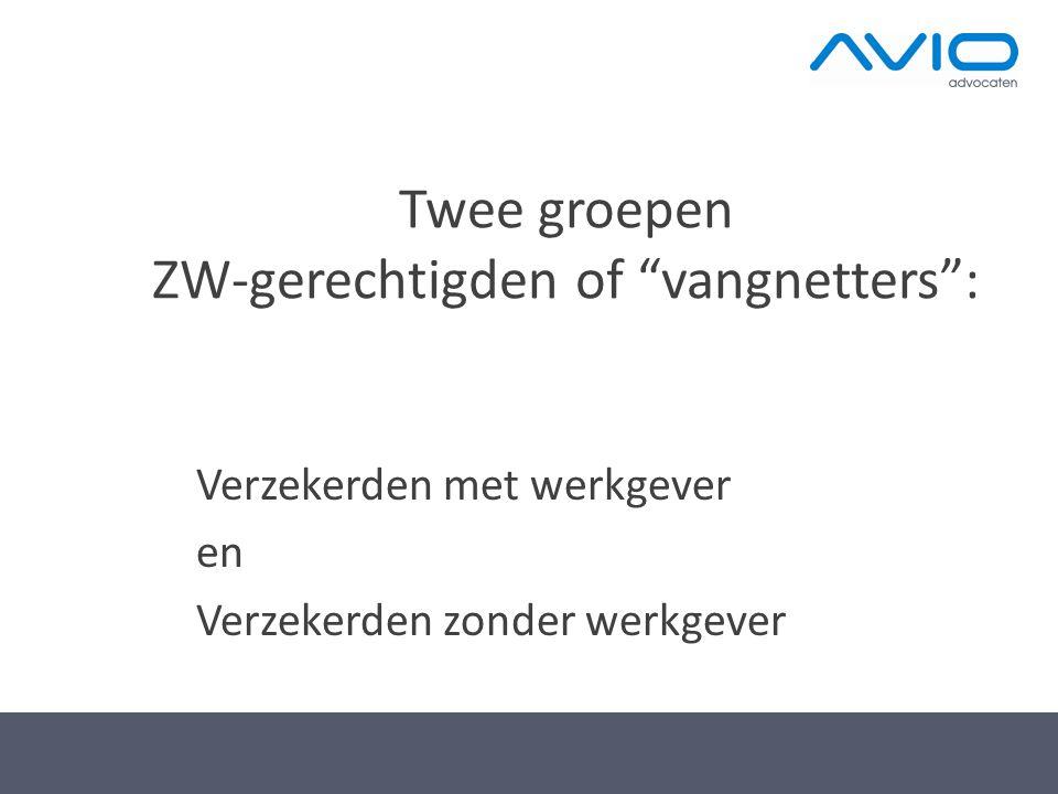 Twee groepen ZW-gerechtigden of vangnetters :