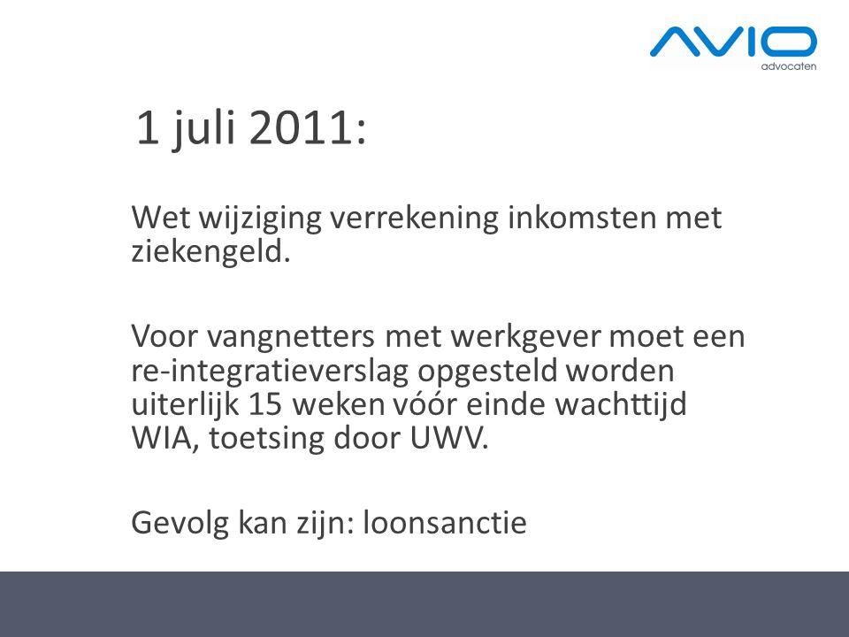 1 juli 2011: