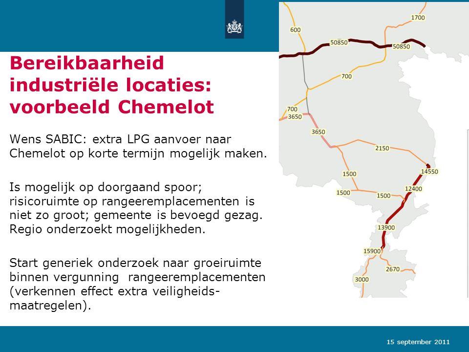Bereikbaarheid industriële locaties: voorbeeld Chemelot