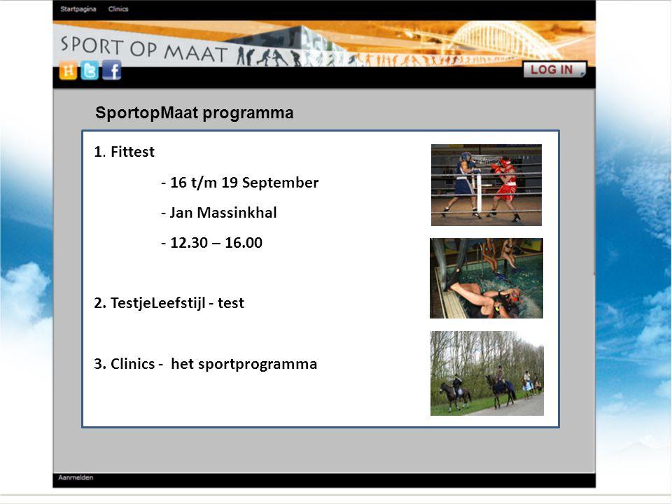 SportopMaat programma