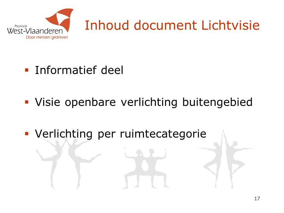 Inhoud document Lichtvisie
