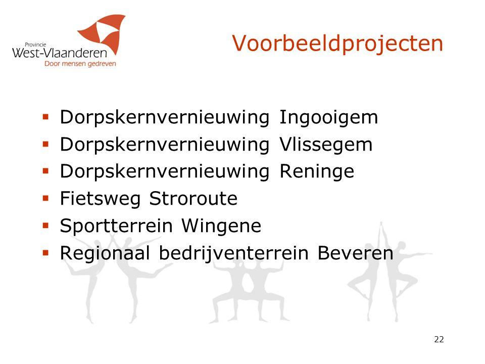 Voorbeeldprojecten Dorpskernvernieuwing Ingooigem