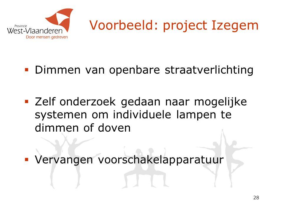 Voorbeeld: project Izegem
