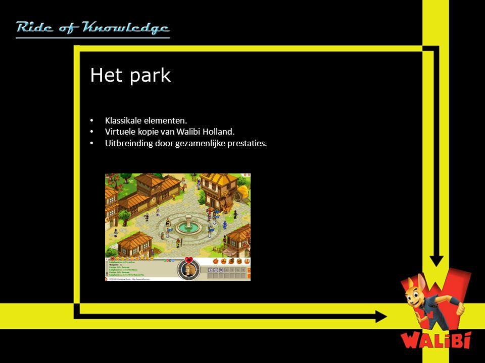 Het park Klassikale elementen. Virtuele kopie van Walibi Holland.