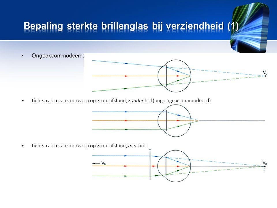 Bepaling sterkte brillenglas bij verziendheid (1)