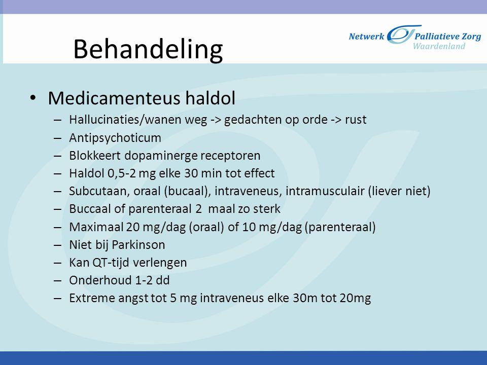 Behandeling Medicamenteus haldol