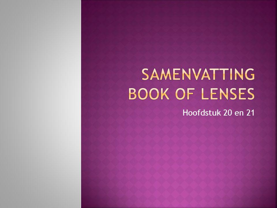 Samenvatting Book of lenses