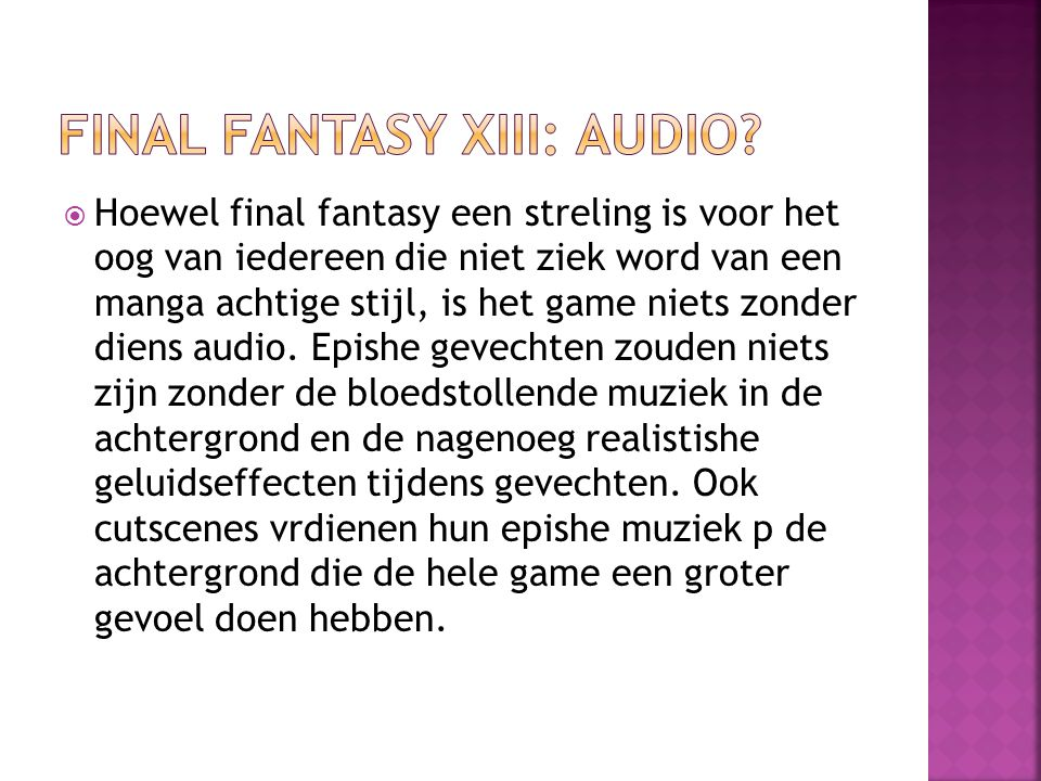 Final Fantasy XIII: Audio