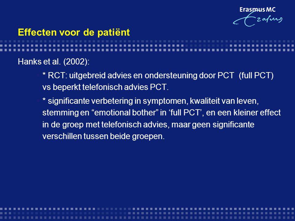 Effecten voor de patiënt
