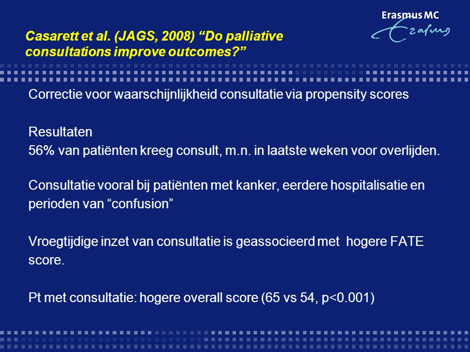 Casarett et al. (JAGS, 2008) Do palliative