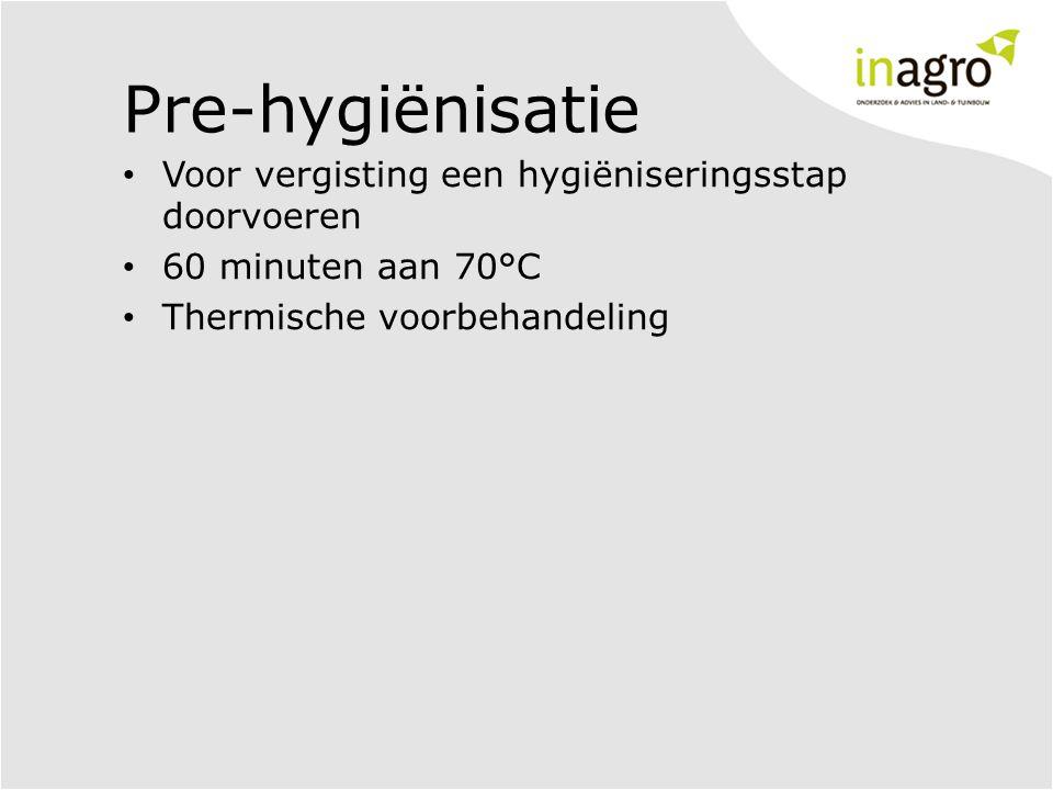 Pre-hygiënisatie Voor vergisting een hygiëniseringsstap doorvoeren