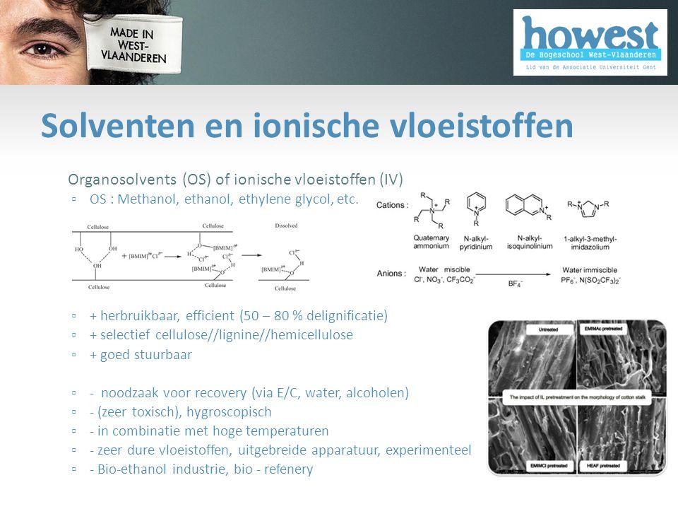 Solventen en ionische vloeistoffen