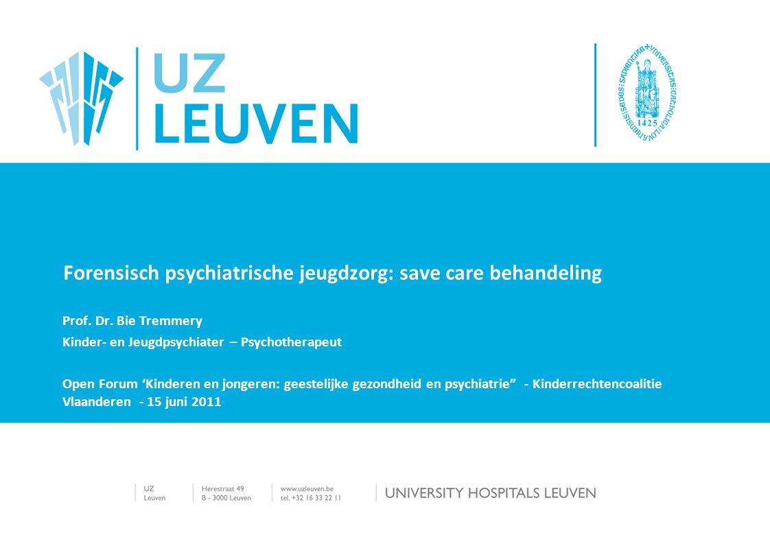 Forensisch psychiatrische jeugdzorg: save care behandeling