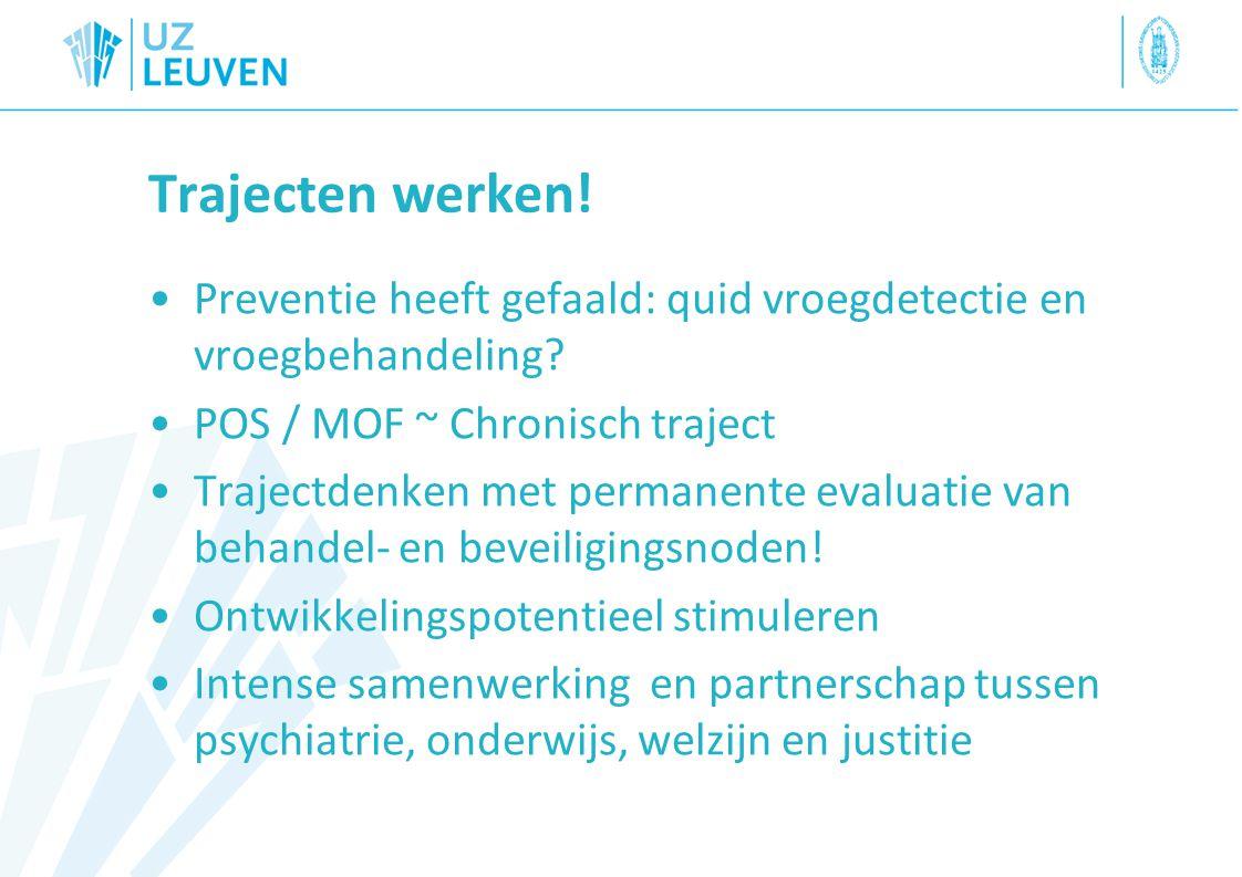 Trajecten werken! Preventie heeft gefaald: quid vroegdetectie en vroegbehandeling POS / MOF ~ Chronisch traject.